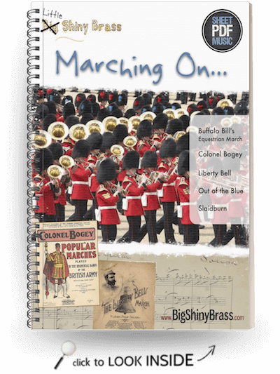 Marching on - Little Shiny Brass - for Junior Brass Band | PDF sheet